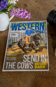"""Another front cover photo, this time in the  magazine """"Western Horse UK"""""""