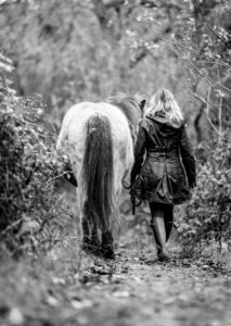 Nicola and her  adventures in the forest with her very lovely  Icelandic  Pony, Lina.